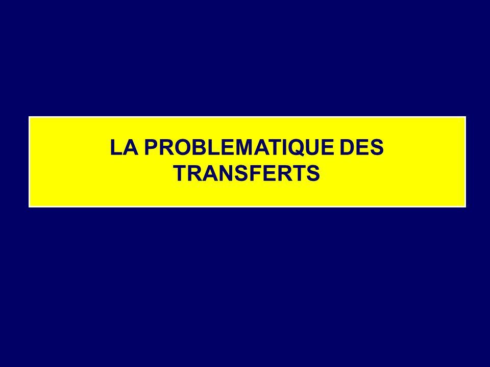 LA PROBLEMATIQUE DES TRANSFERTS