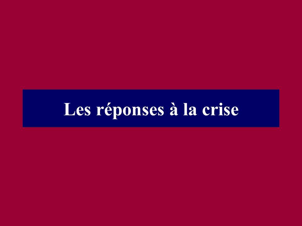 Les réponses à la crise