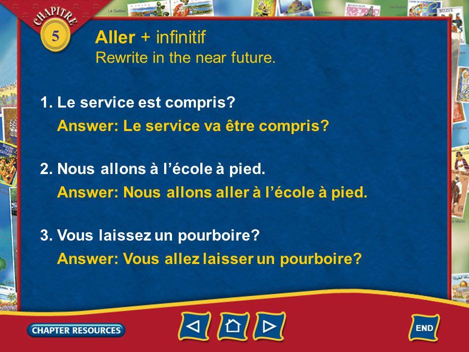 5 Aller + infinitif 2. To make a sentence negative, you put ne… pas around the conjugated form of aller. Tu ne vas pas aller au café? Moi, je ne vais