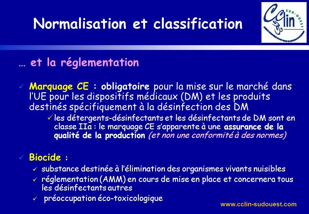 www.cclin-sudouest.com … et la réglementation Marquage CE : obligatoire pour la mise sur le marché dans lUE pour les dispositifs médicaux (DM) et les