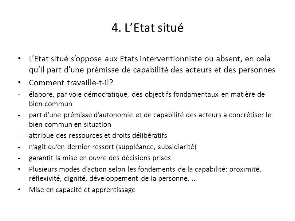 4. LEtat situé LEtat situé soppose aux Etats interventionniste ou absent, en cela quil part dune prémisse de capabilité des acteurs et des personnes C