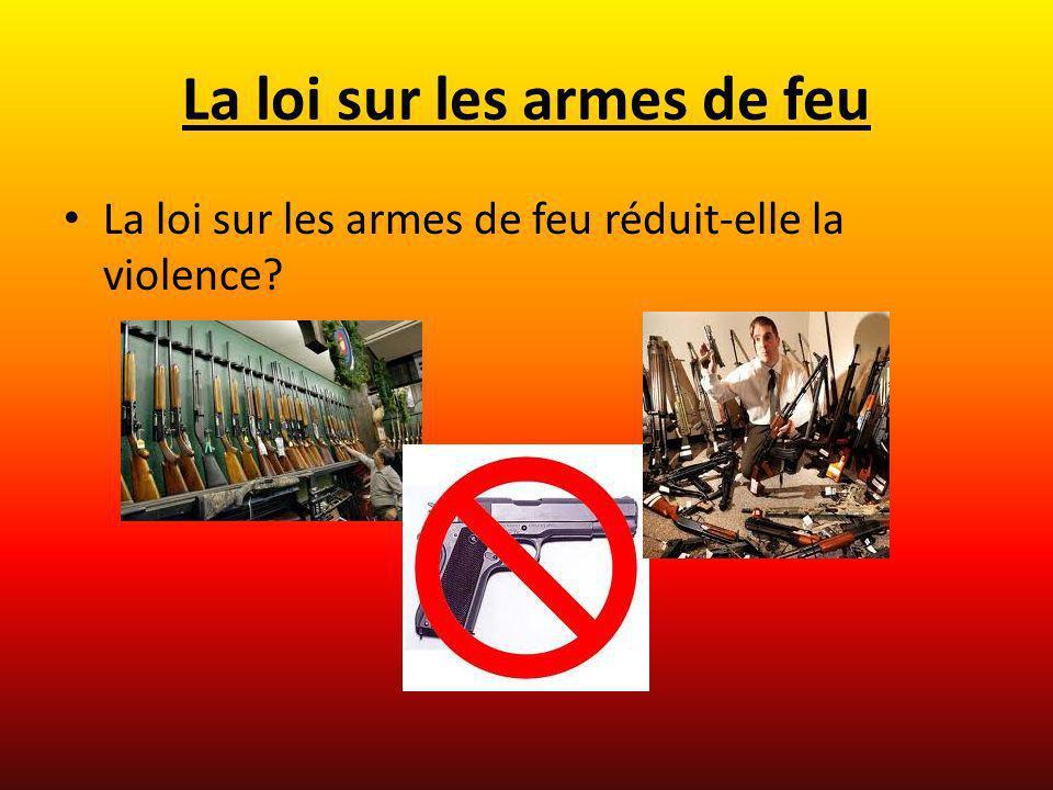 La loi sur les armes de feu La loi sur les armes de feu réduit-elle la violence?