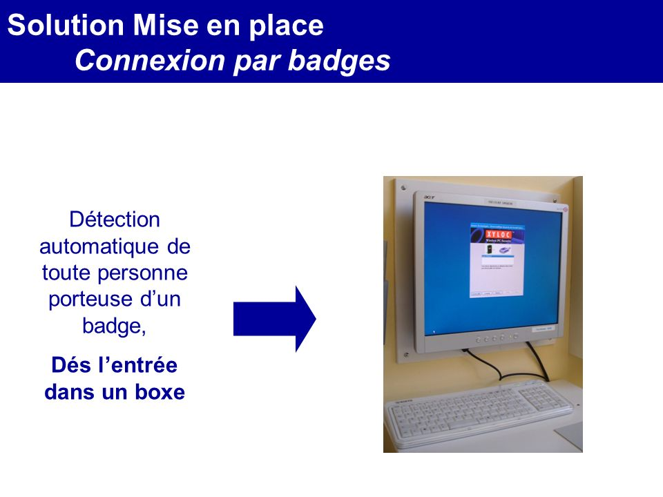 MEDEC - Congrès 2006 : Forum de lInformatique et des N.T.I.C Santé, le vendredi 17 Mars Détection automatique de toute personne porteuse dun badge, Dé