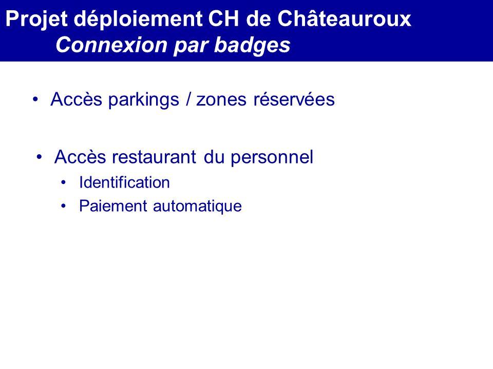MEDEC - Congrès 2006 : Forum de lInformatique et des N.T.I.C Santé, le vendredi 17 Mars Accès parkings / zones réservées Projet déploiement CH de Chât