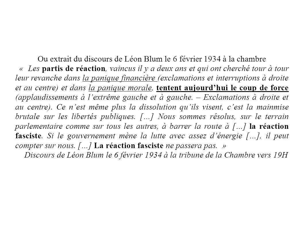 Second extrait vidéo + documents Qu arrive t-il à Léon Blum en 1936 .