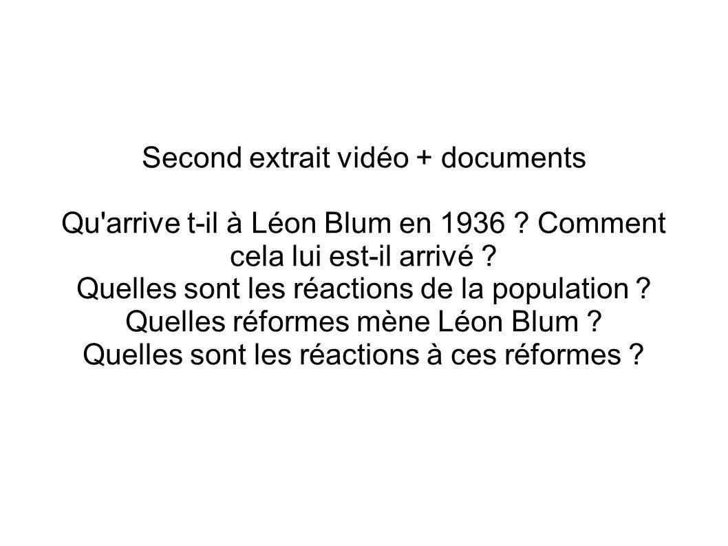 lélection de Léon Blum et les principales réformes du Front populaire.