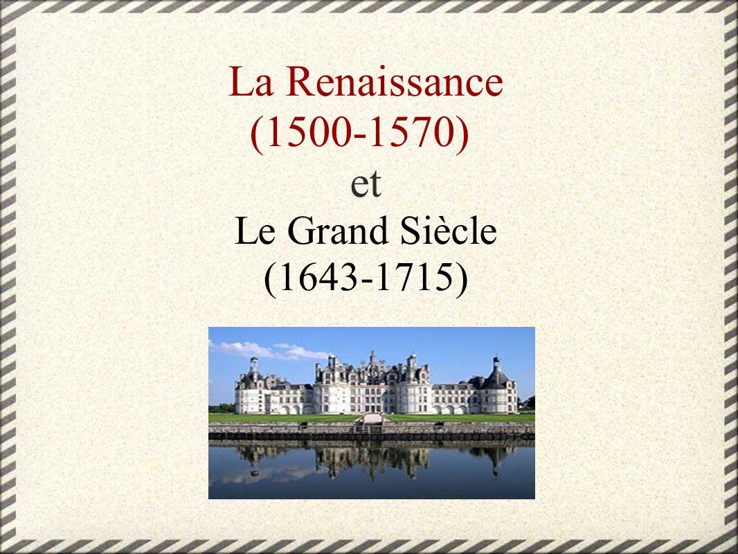 La Renaissance Cette période suit le Moyen Age.