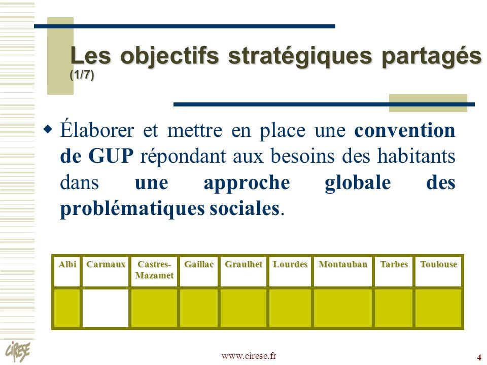 www.cirese.fr 25 CUCS de Toulouse (suite) Assurer la pérennité des aménagements réalisés dans le cadre des projets urbains.