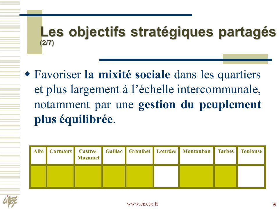 www.cirese.fr 16 CUCS Castres-Mazamet Favoriser la mixité sociale dans les quartiers et plus largement à léchelle intercommunale.