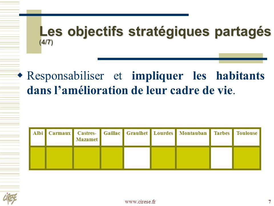 www.cirese.fr 28 Attractivité : utilité sociale des actions LCD engagées, voire leur intérêt pour les acteurs concernés.