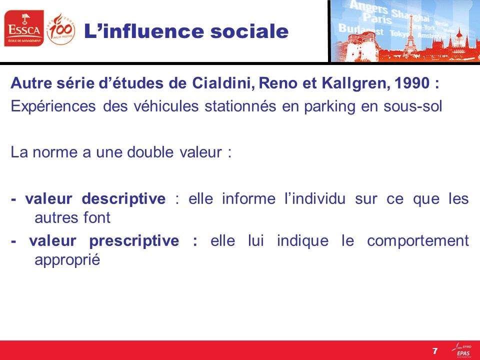 Linfluence sociale Pour parvenir à devenir source d influence, leur message doit être présenté de manière cohérente et unanime.