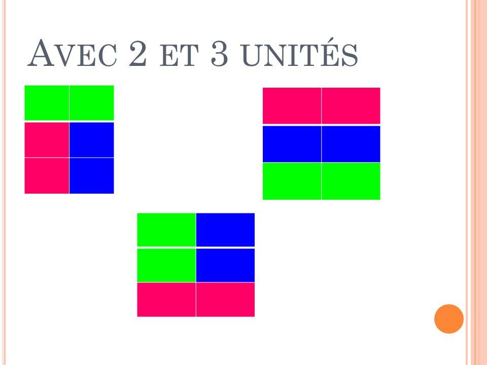 A VEC 2 ET 3 UNITÉS