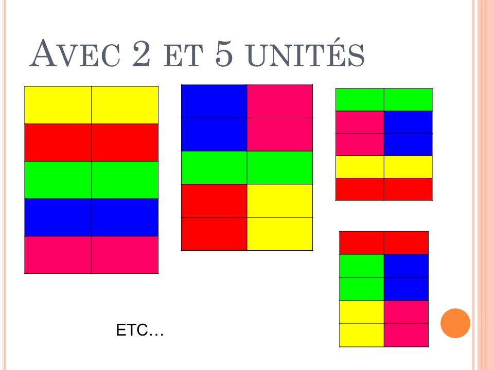 A VEC 2 ET 5 UNITÉS ETC…