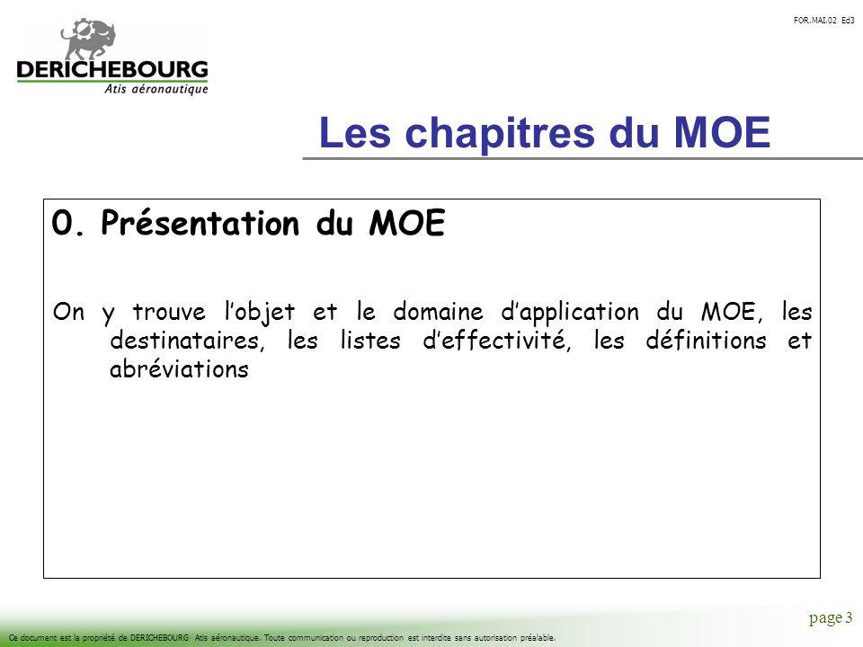 FOR.MAI.02 Ed3 Ce document est la propriété de DERICHEBOURG Atis aéronautique. Toute communication ou reproduction est interdite sans autorisation pré