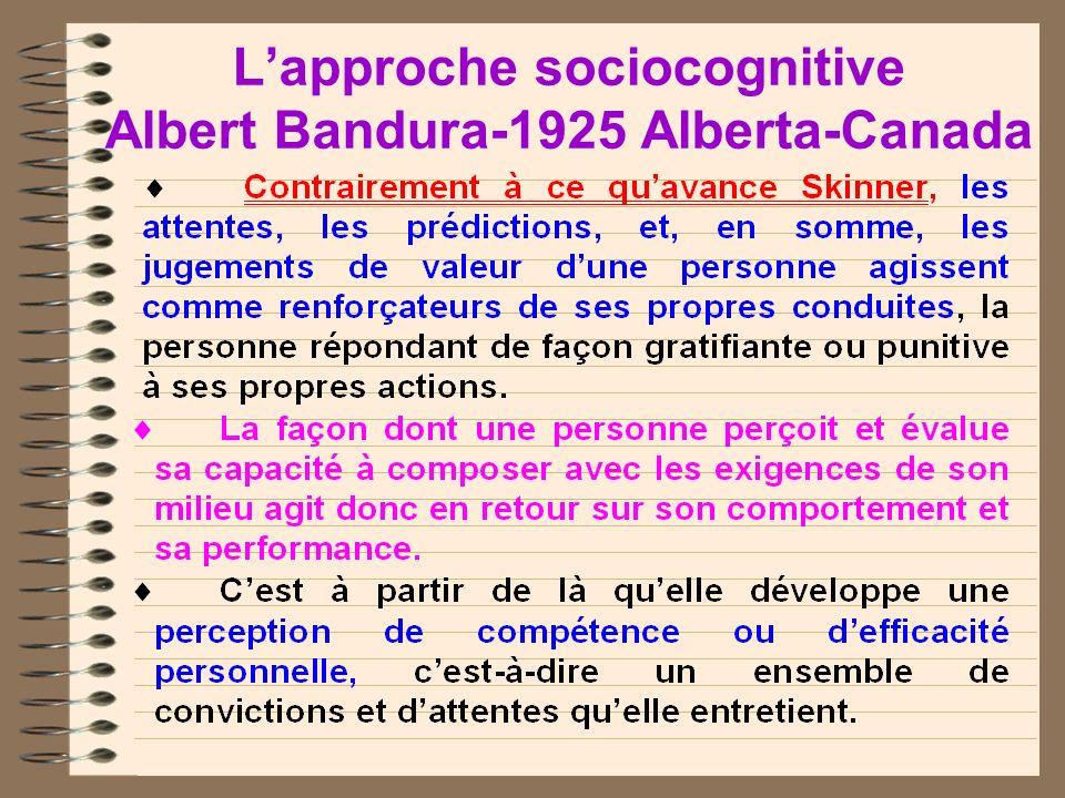 Lapproche sociocognitive Albert Bandura-1925 Alberta-Canada