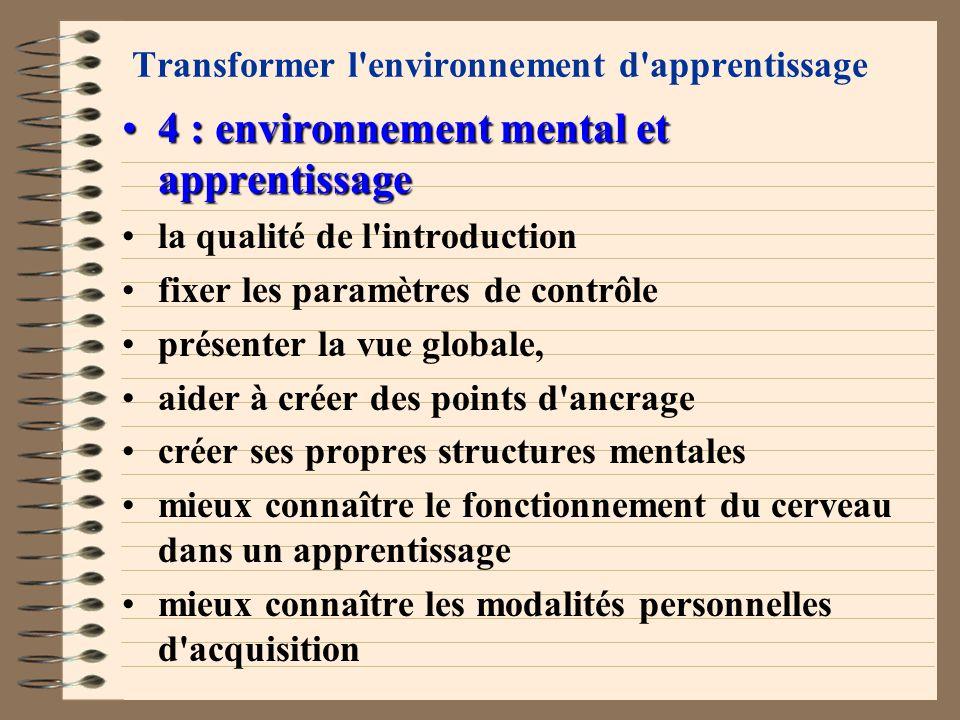 Transformer l'environnement d'apprentissage 3 : environnement social et apprentissage3 : environnement social et apprentissage bien vivre ensemble sav