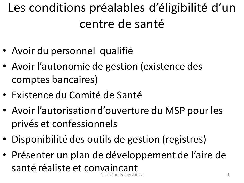 Les critères de choix du CdS à donner le contrat principal Détermination des aires de responsabilité par le MSP (BPS/BDS).