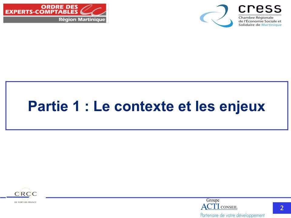 2 Partie 1 : Le contexte et les enjeux
