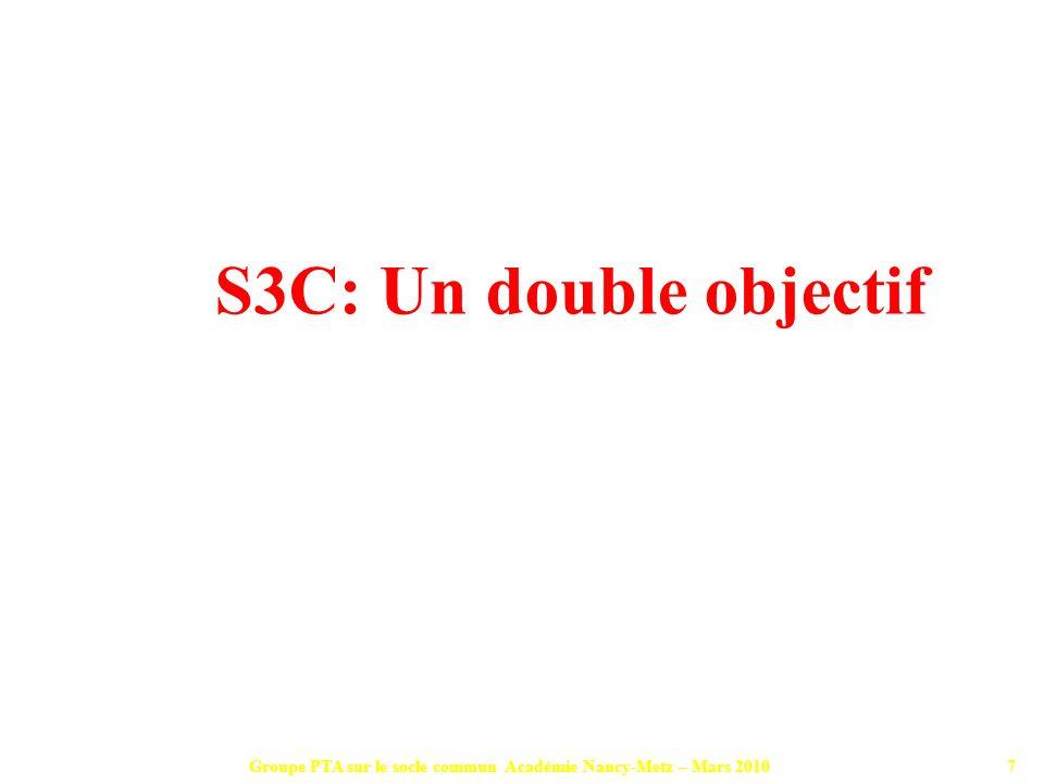 Groupe PTA sur le socle commun Académie Nancy-Metz – Mars 201028 La liberté pédagogique est réaffirmée.