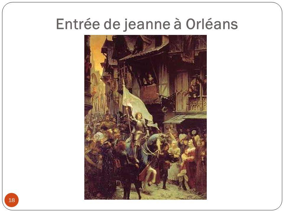 La capture, le procès et lexécution 19 Jeanne dArc tente ensuite de libérer Paris avec laccord du roi.