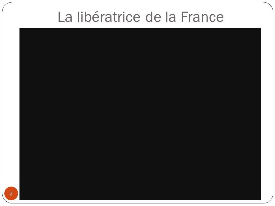 Une héroïne française 3 Née à Domrémy en Lorraine le 06/01/1412 ; Morte à Rouen le 30/01/1431 Figure de proue de l histoire de France, Jeanne d Arc mena une guerre pour libérer son pays de l envahisseur anglais au XVème siècle.