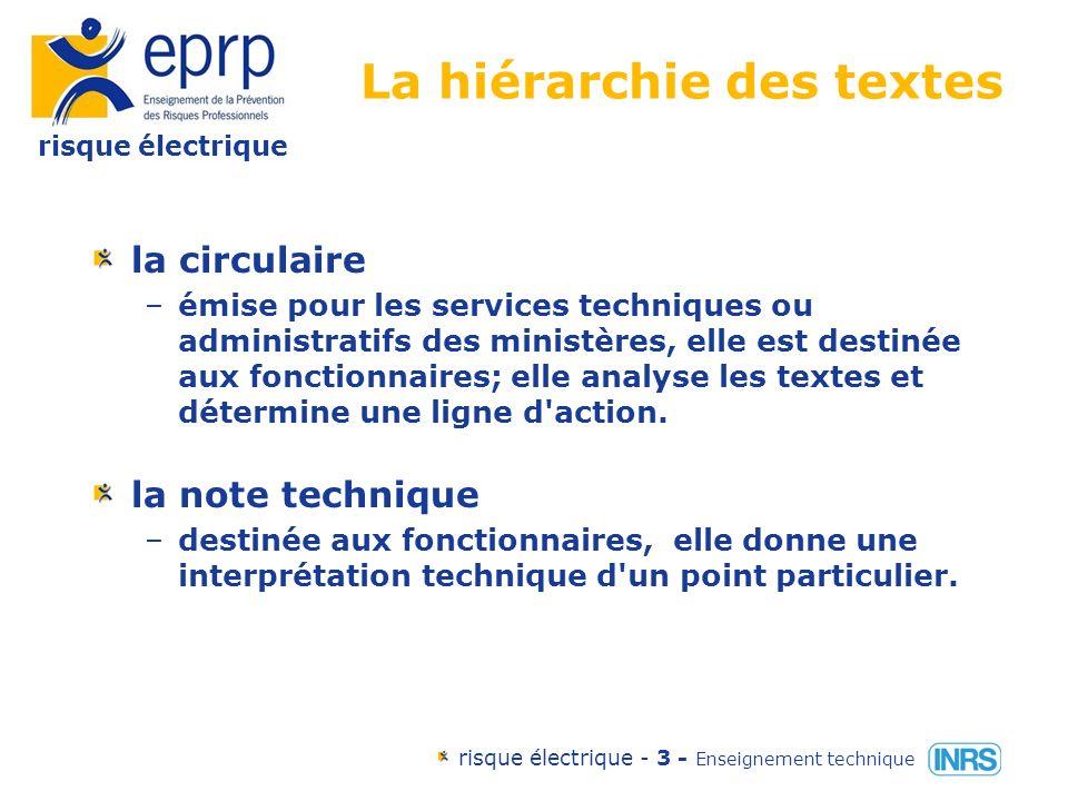 risque électrique risque électrique - 33 - Enseignement technique Les effets du passage du courant continu