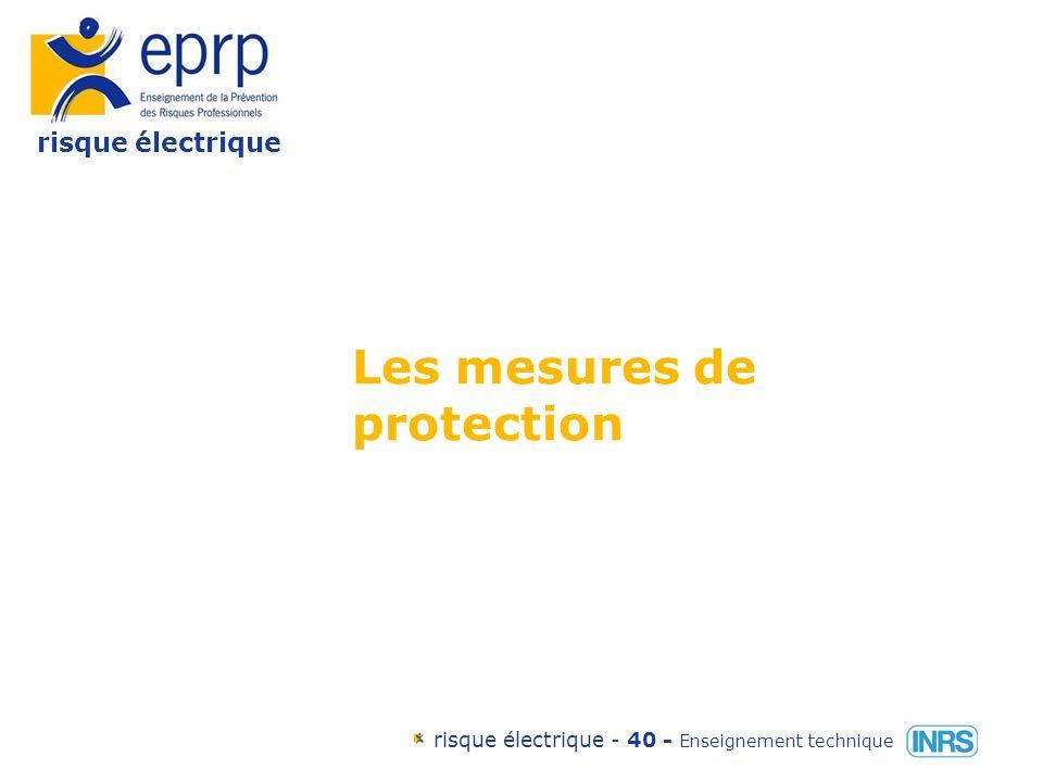 risque électrique risque électrique - 39 - Enseignement technique Variation de la résistance du corps humain en fonction de la tension de contact et de létat de la peau