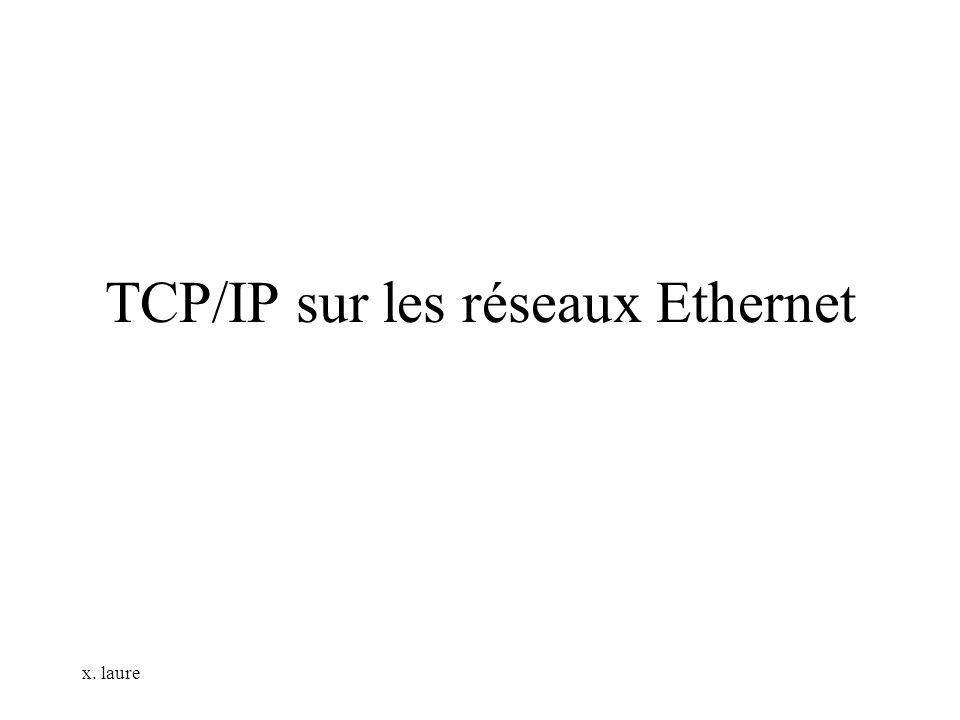 x. laure TCP/IP sur les réseaux Ethernet