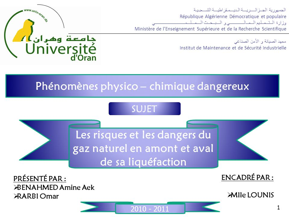 INTRODUCTION CHAPITRE I: DANGERS ET RISQUES DU GNL EN AMONT ET EN AVAL DE SA LIQUÉFACTION.