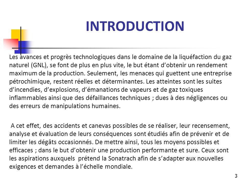 INTRODUCTION Les avances et progrès technologiques dans le domaine de la liquéfaction du gaz naturel (GNL), se font de plus en plus vite, le but étant