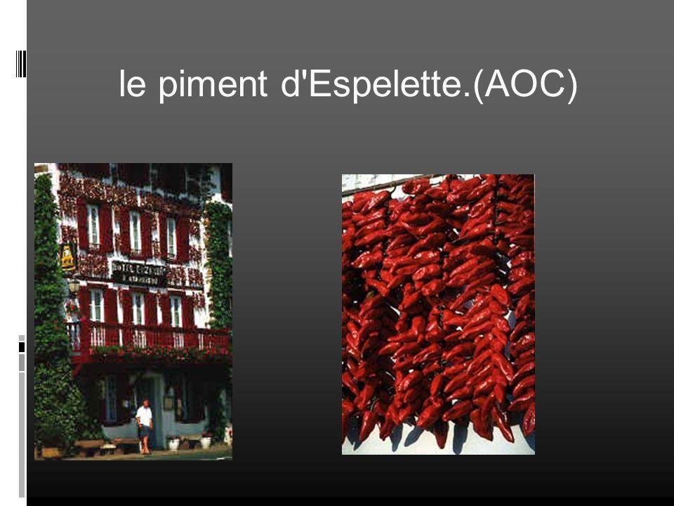 le piment d'Espelette.(AOC)