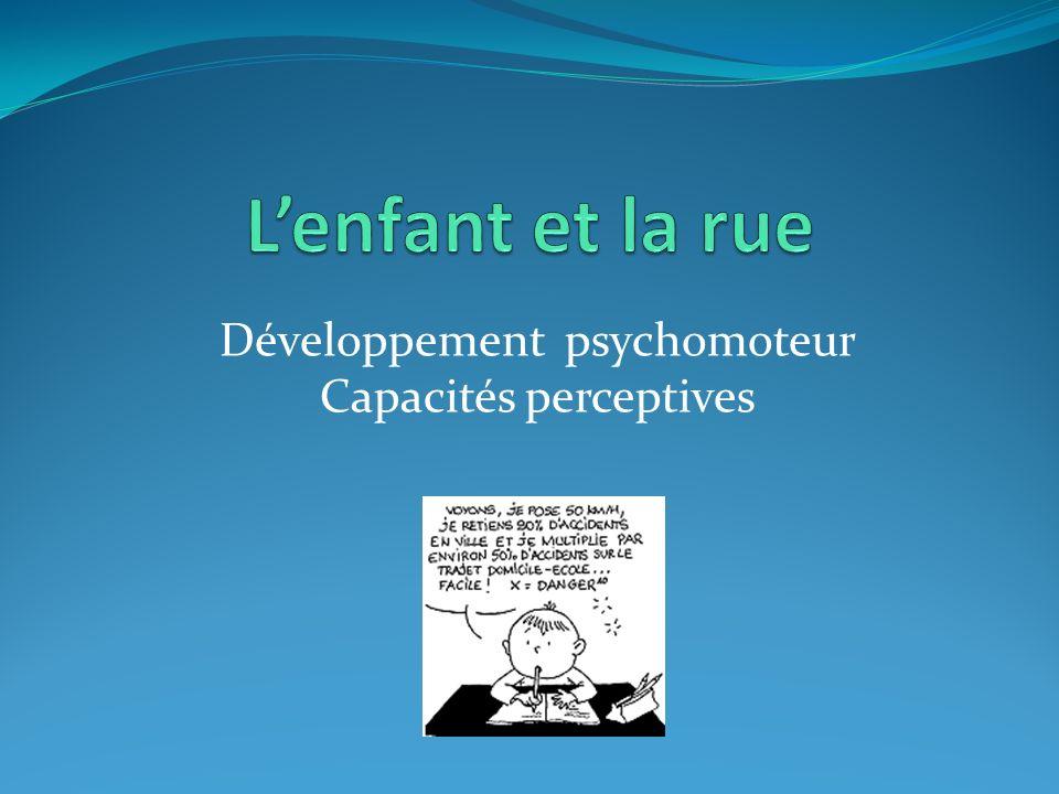 Développement psychomoteur Capacités perceptives