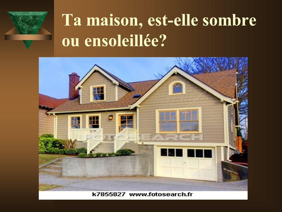 Ta maison, est-elle sombre ou ensoleillée?