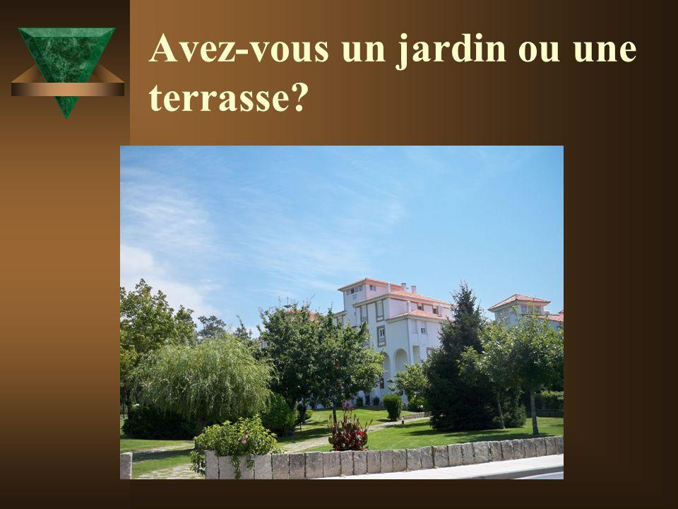 Avez-vous un jardin ou une terrasse?
