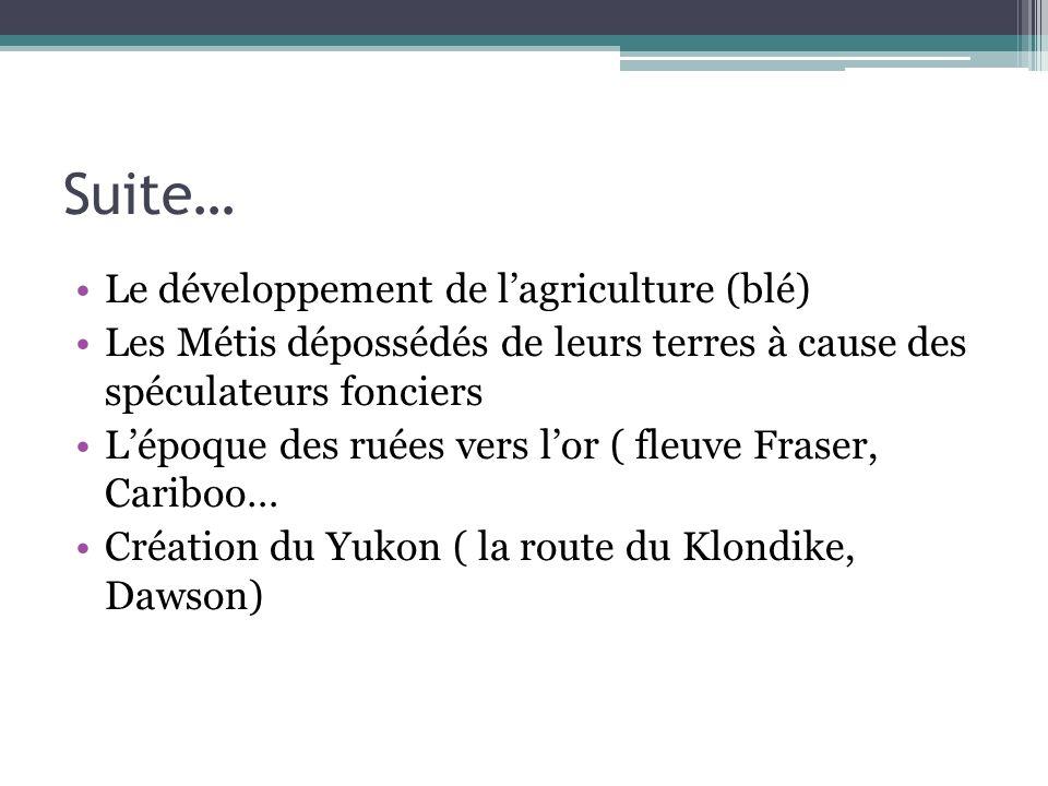 Introduction au chapitre 7 Jusquà la fin du 19 e siècle, léconomie du Canada repose surtout sur les ress.