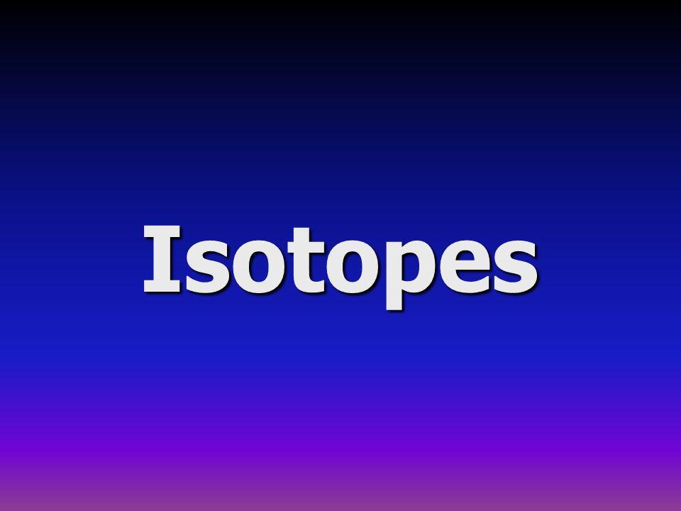 12 Calcul de la masse atomique moyenne: 3.Le brome naturel est constitué de deux isotopes.