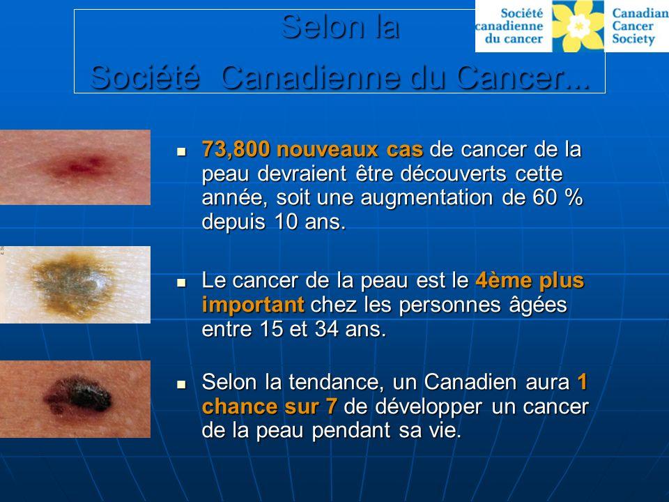 Selon la Société Canadienne du Cancer...