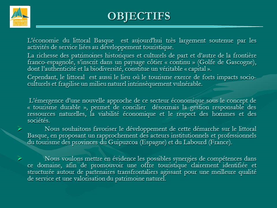 L économie du littoral Basque est aujourd hui très largement soutenue par les activités de service liées au développement touristique.