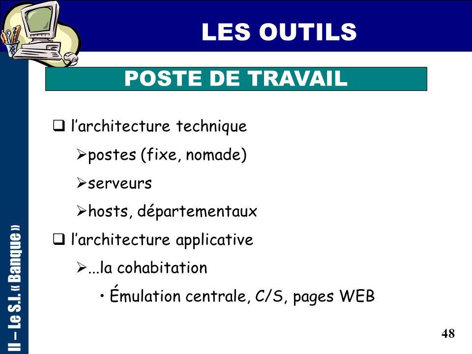 47 LES OUTILS POSTE DE TRAVAIL point daccès unique et fédérateur du S.I. le portail outils personnels (bureautique) outils de travail collaboratif (me
