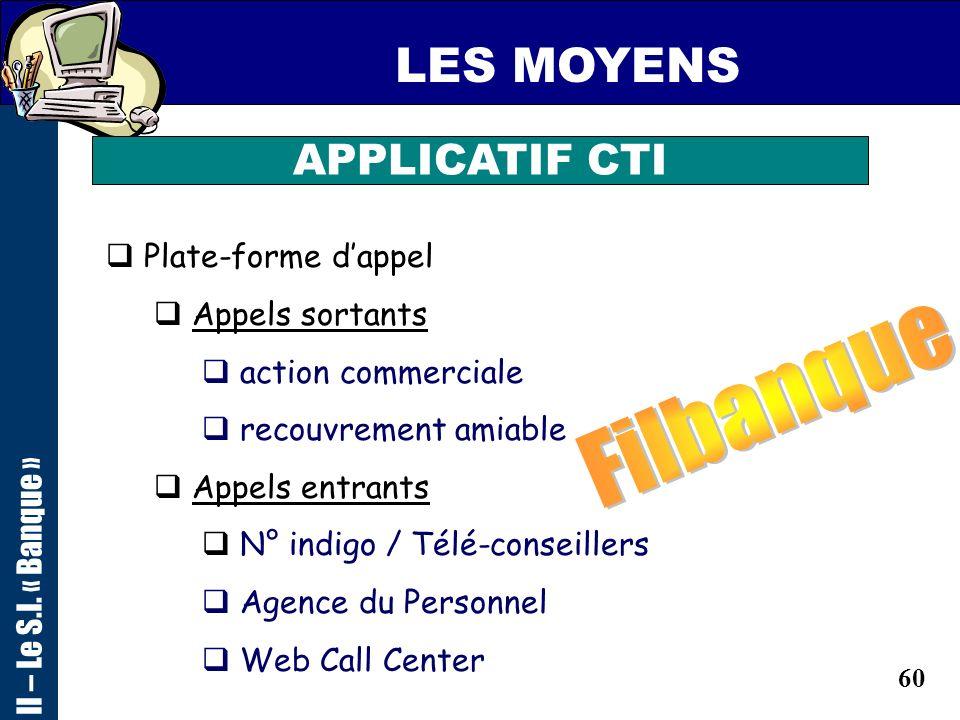 59 LES MOYENS LES MEDIA CLIENTS de la disquette à li-mode ! II – Le S.I. « Banque »