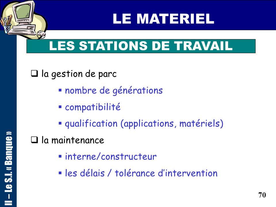 69 LES MOYENS DEPLOIEMENT II – Le S.I. « Banque » 1 : FICHE PROJET 1 : FICHE PROJET 2 : LES IMPACTS TECHNIQUES 3 : LES IMPACTS ORGANISATIONNELS 4 : DO