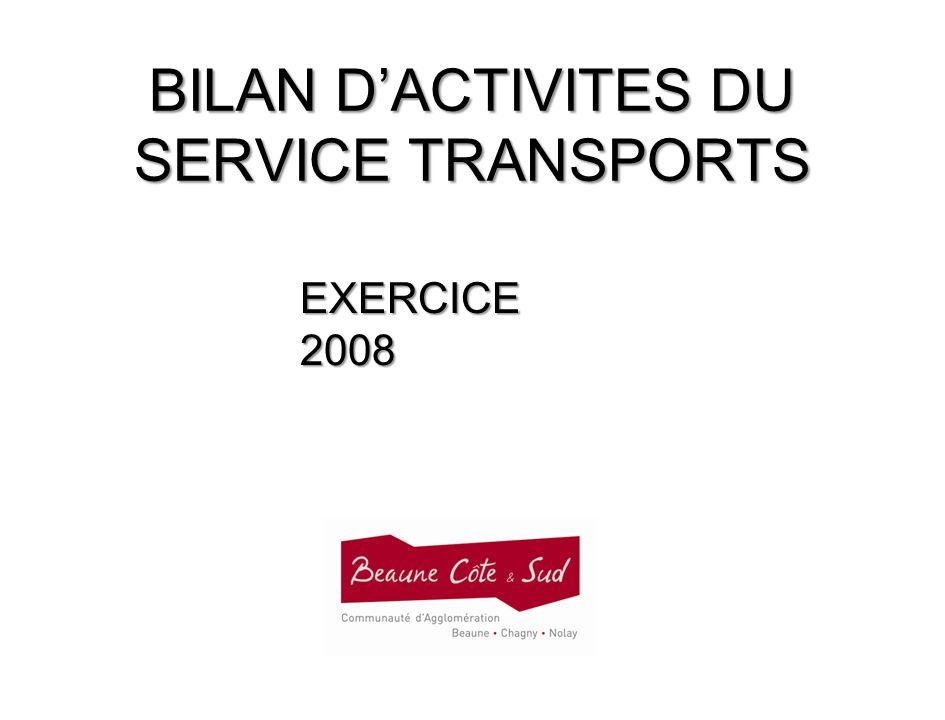 BILAN DACTIVITES DU SERVICE TRANSPORTS EXERCICE 2008