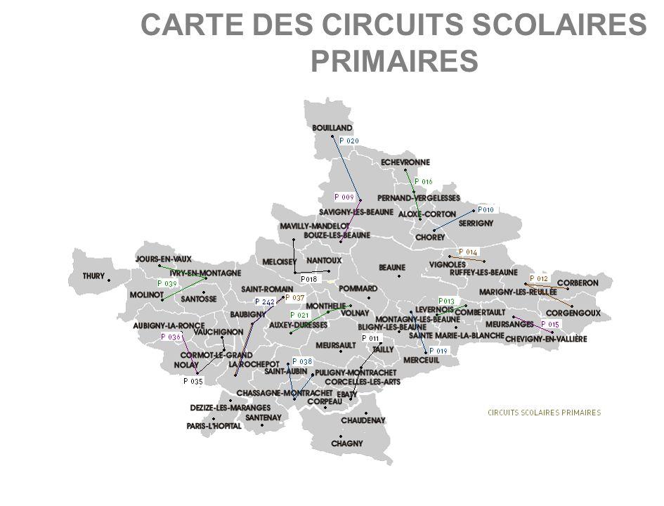 CARTE DES CIRCUITS SCOLAIRES SECONDAIRES