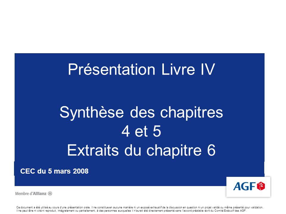2 Défis à relever : réaliser Ambitions 2011 : distribution, compétitivité et qualité de service Lors des CEC des 22 juin et 13 juillet 2007, AGF a exposé la stratégie de lentreprise à lhorizon 2011.