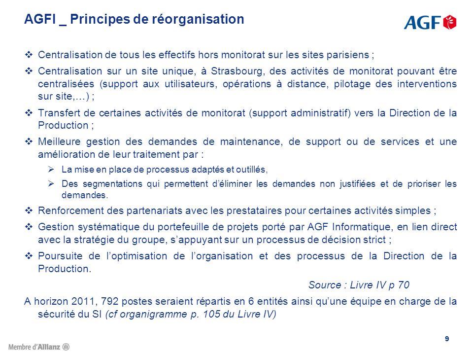 40 Constats sur lexistant La DRHCI a été réorganisée en Septembre 2007 à isoeffectifs.