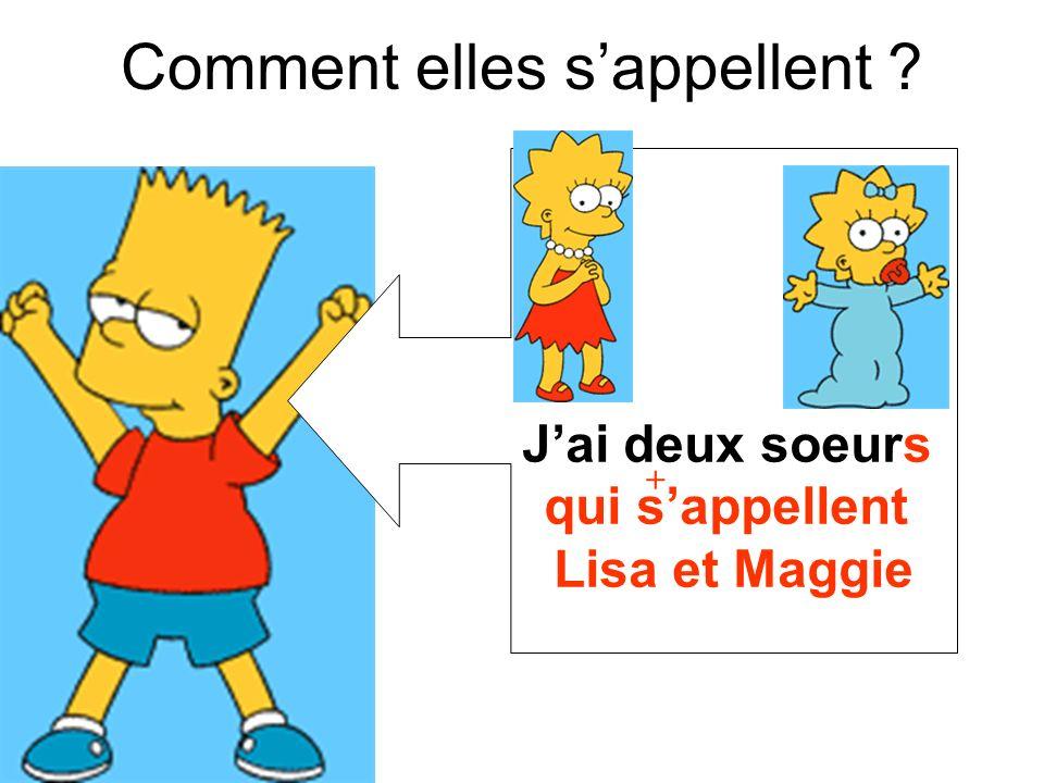 qui sappellent Lisa et Maggie + Comment elles sappellent ?