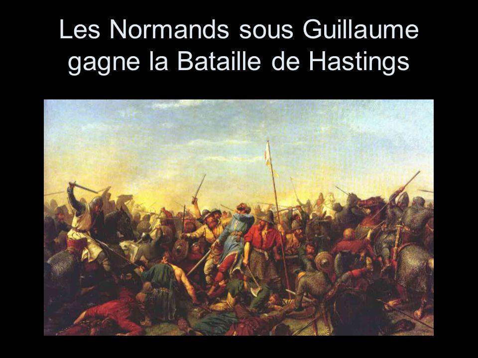 Les Normands sous Guillaume gagne la Bataille de Hastings