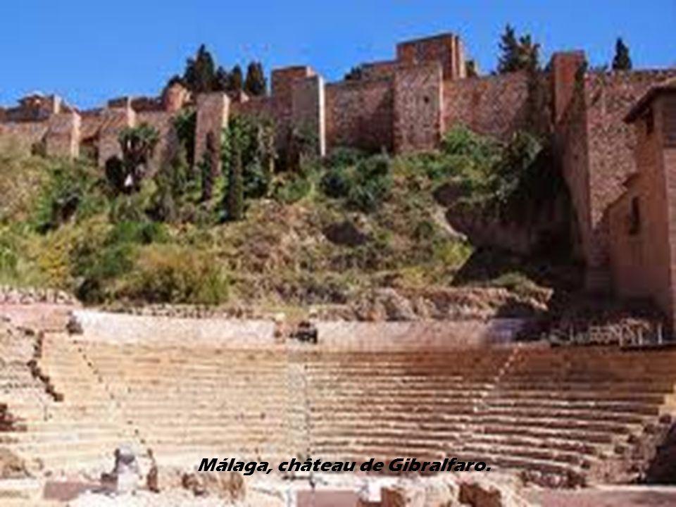 Málaga, château de Gibralfaro.