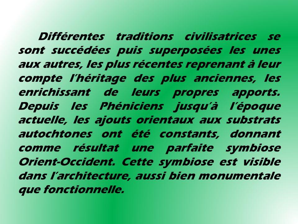 Différentes traditions civilisatrices se sont succédées puis superposées les unes aux autres, les plus récentes reprenant à leur compte lhéritage des