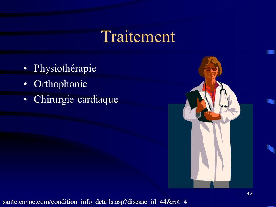 42 Traitement Physiothérapie Orthophonie Chirurgie cardiaque sante.canoe.com/condition_info_details.asp?disease_id=44&rot=4